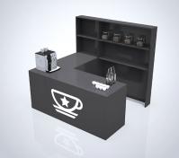 """Дизайн и визуализация торговой точки """"кофе с собой"""""""