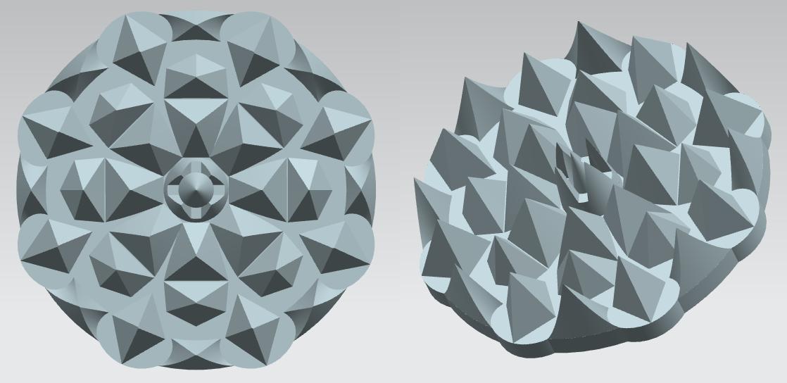 Сделать 3D модель массажного элемента формат STP/UG фото f_7735d2c87d0f164e.png