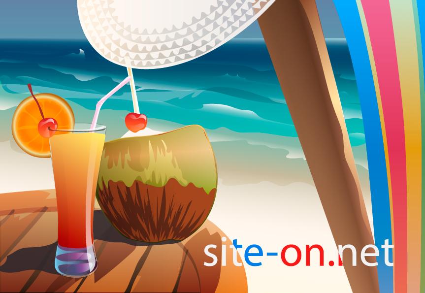 Коктейль. Иллюстрация для сайта.