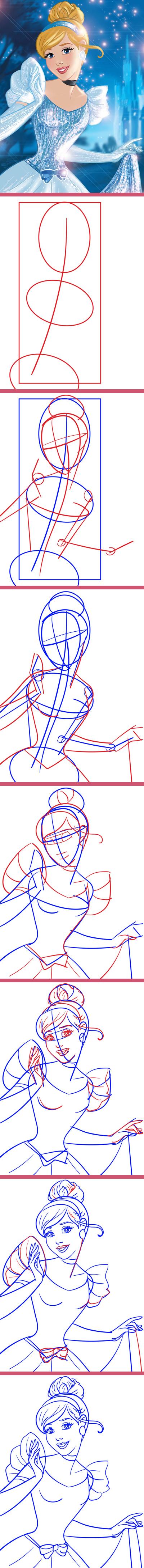 """Из серии """"Как нарисовать..."""" Золушка."""