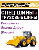 Контекстная реклама на Яндекс.Директ для магазина шин для спецтехники (на Россию)