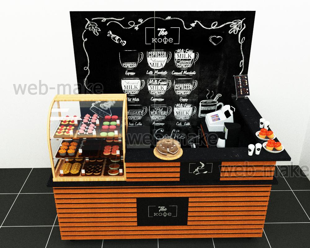 Дизайн-проект островка кафетерий в ТЦ