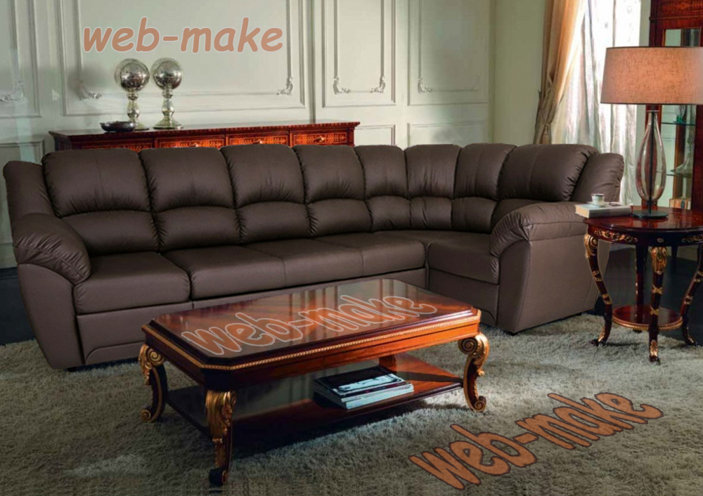 Фото монтаж. Визуализация дивана в интерьере