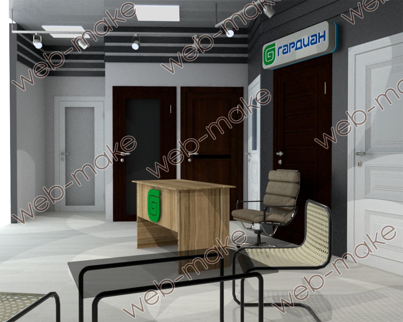 Визуализация дверей для выставочного стенда