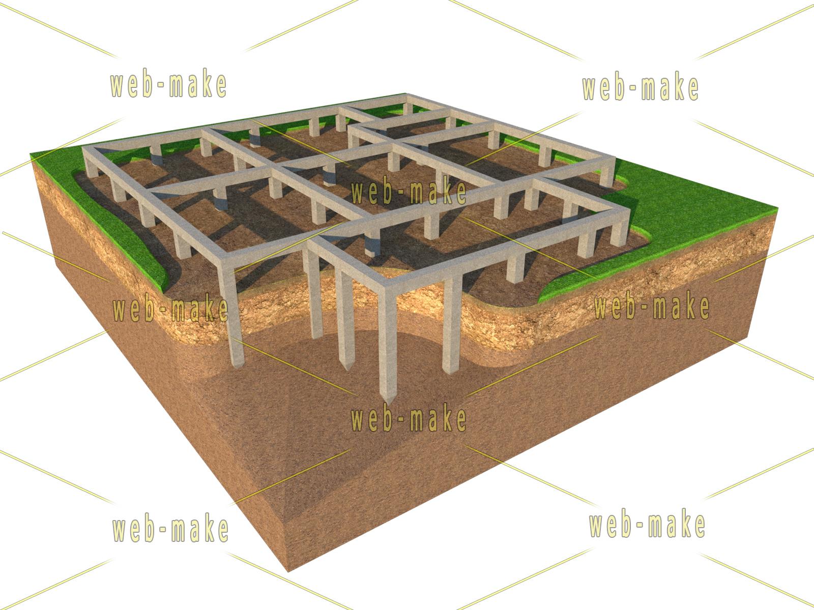 Иллюстрация фундамента для сайта