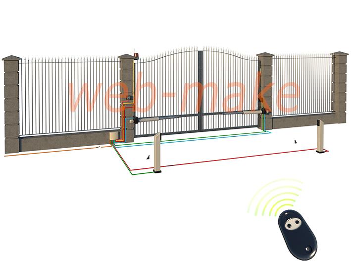 Моделирование ворот и агрегатов с автоматически открыванием, для иллюстрации на сайте