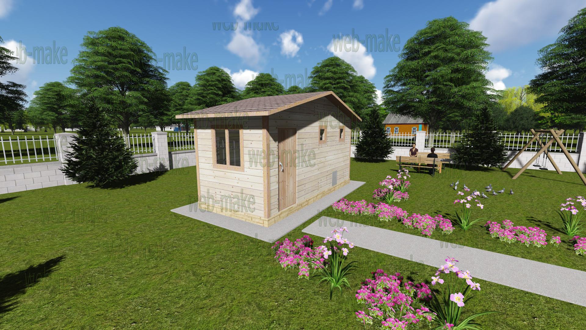 Проект облагораживание заднего дворика