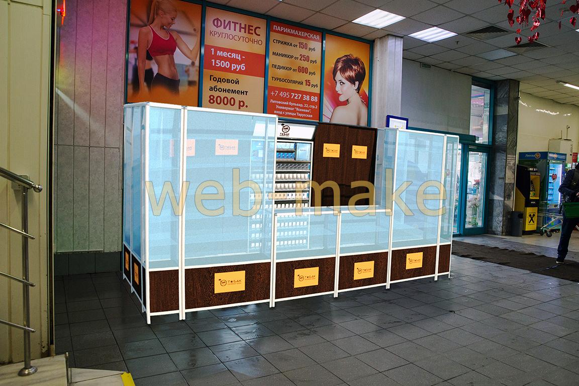 3Д моделирование витрин с фотопривязкой в Торговом центре