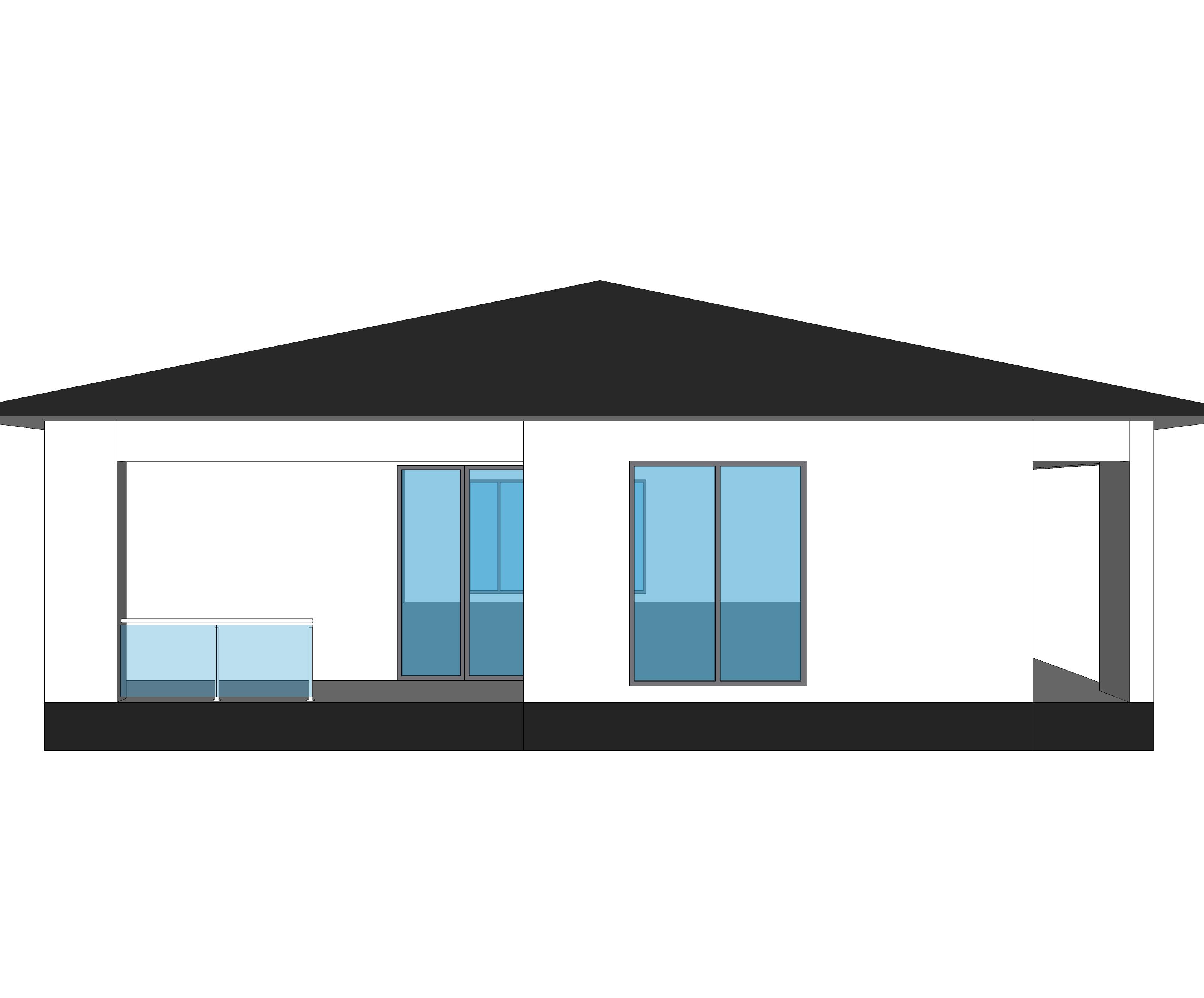 Моделирование визуализация фасад дома