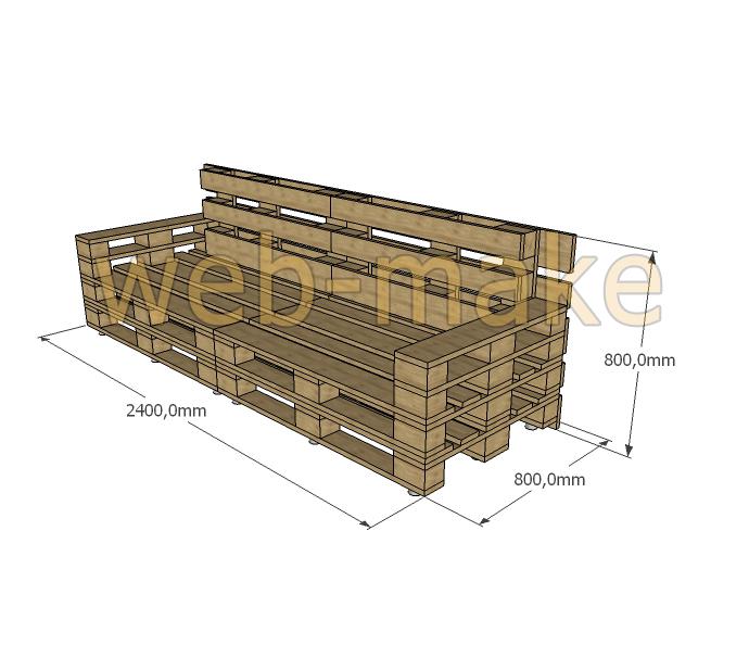 Проект мебели выполненных из товарных паллет