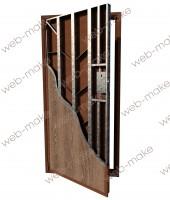 Иллюстрация прочностных характеристик металлической двери.