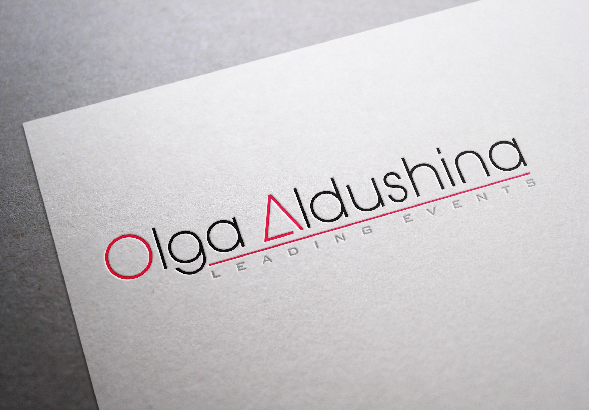 Разработка логотипа для ведущей Ольги Алдушиной