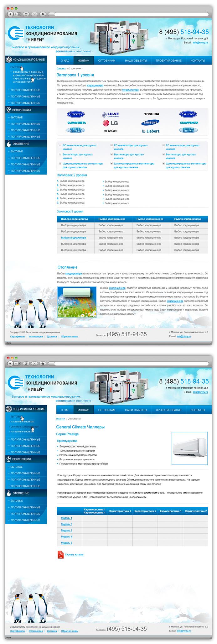 Nivey.ru - Технологии кондиционирования