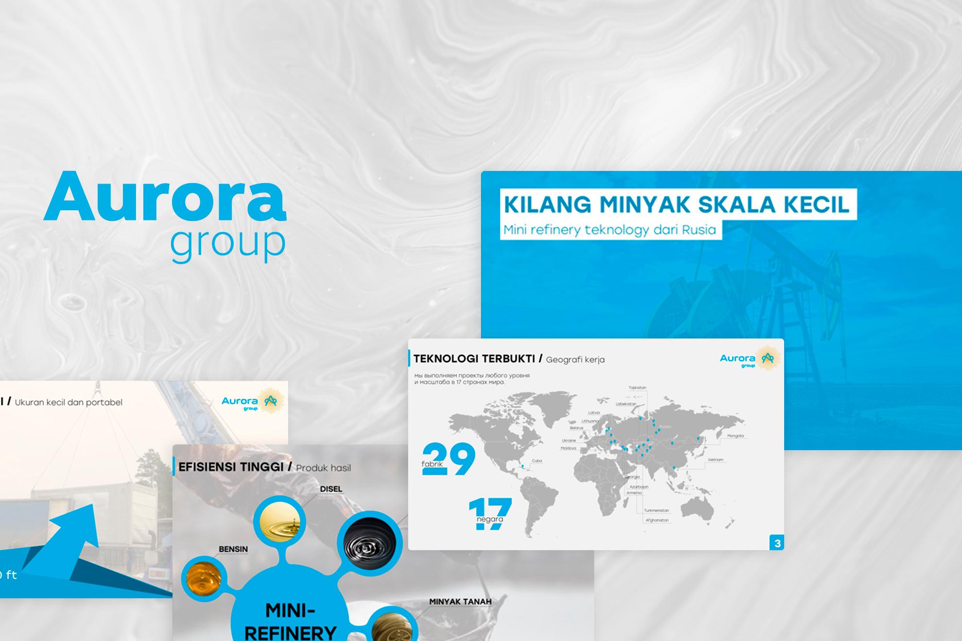 Aurora group // Презентация мини-нефтянного завода (Indonesia)