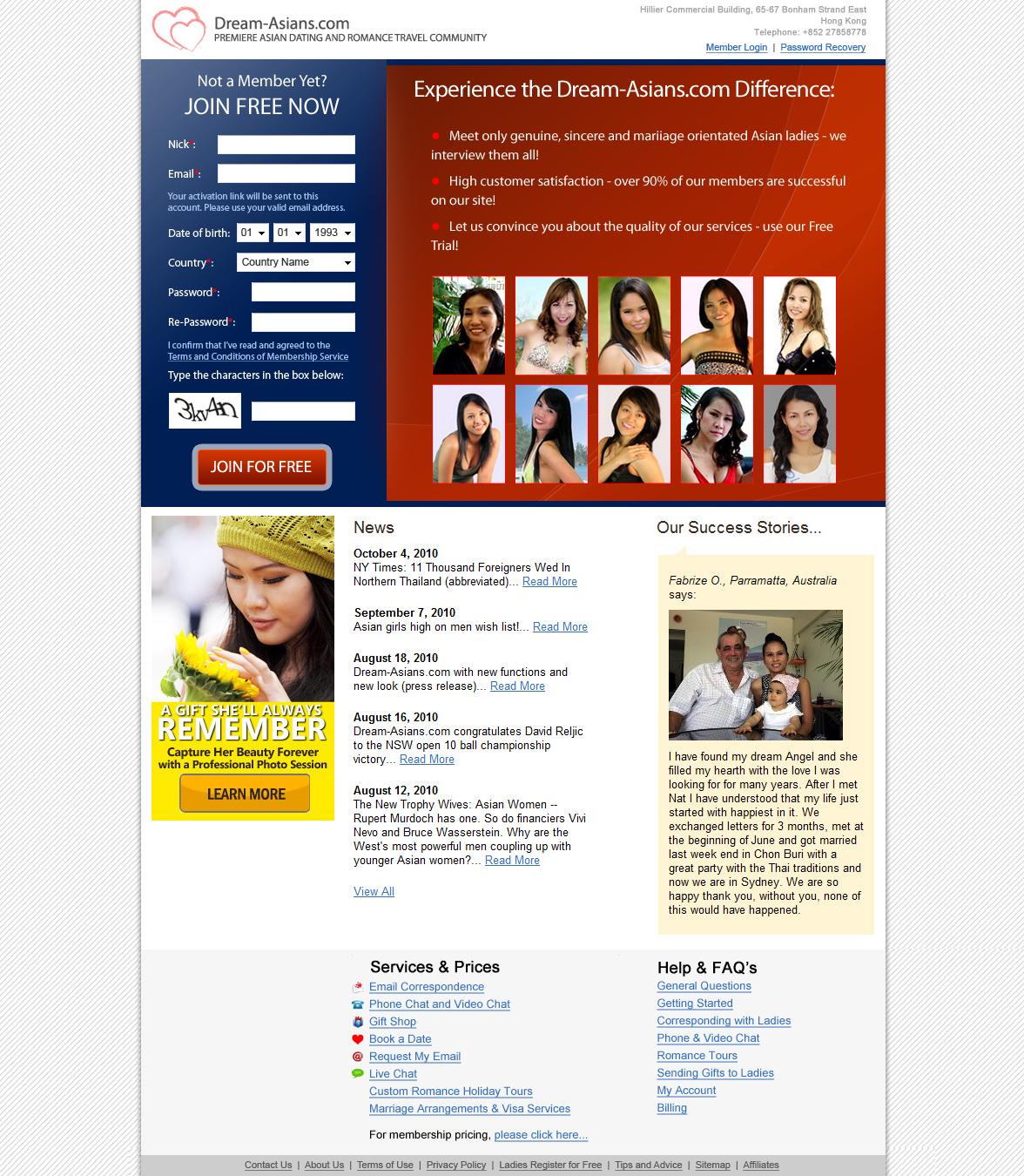 Dream-Asians.com - Сайт знакомств