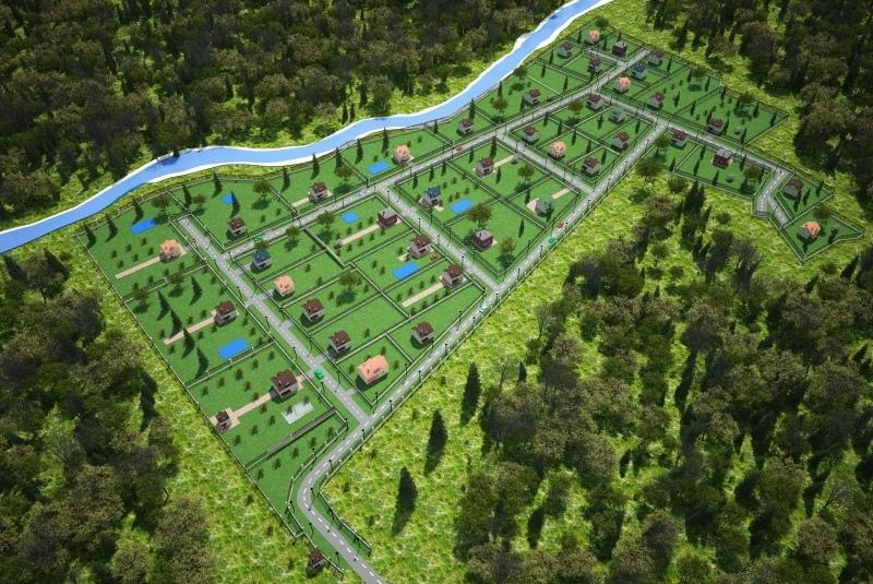 Карта поселка 3D