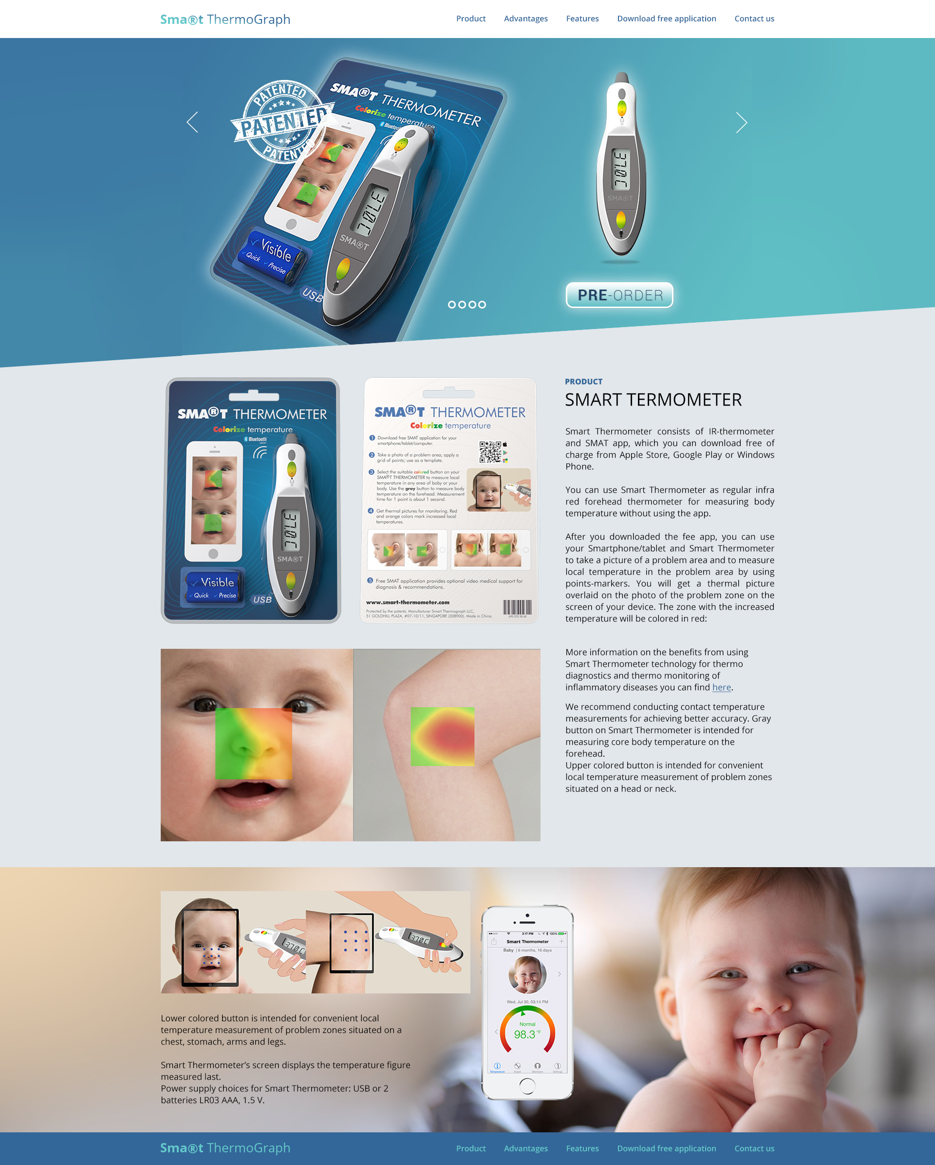 Дизайн ЛП Smart TermoGraph