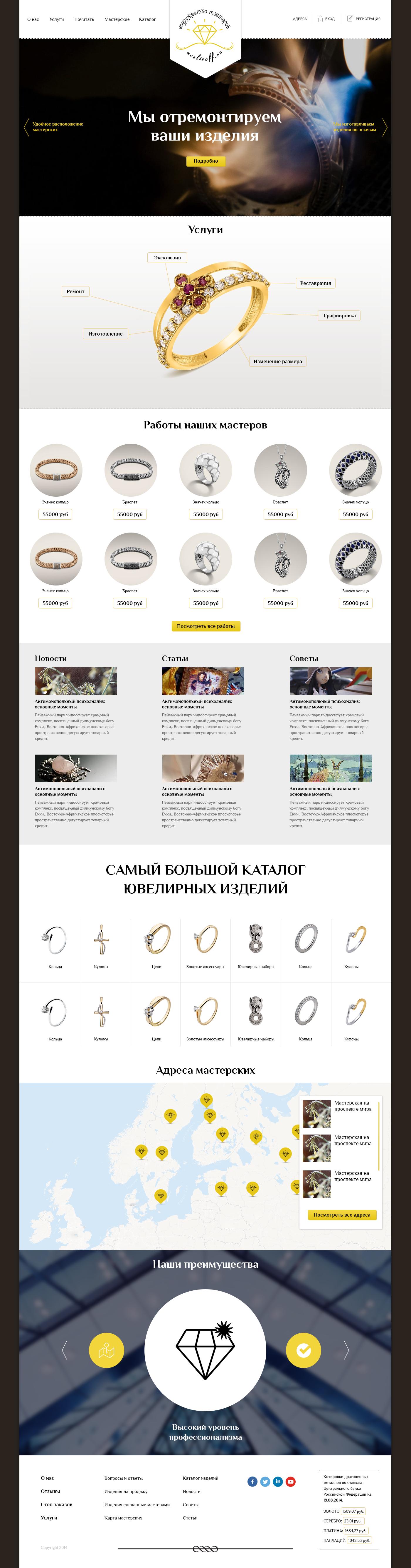 Дизайн Сайта Uveliroff