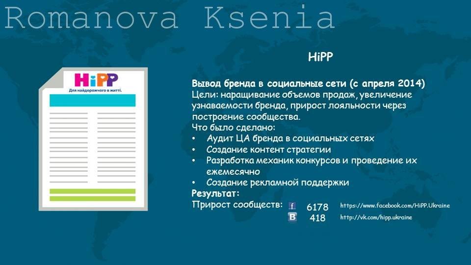 Ведение компании HiPP UA