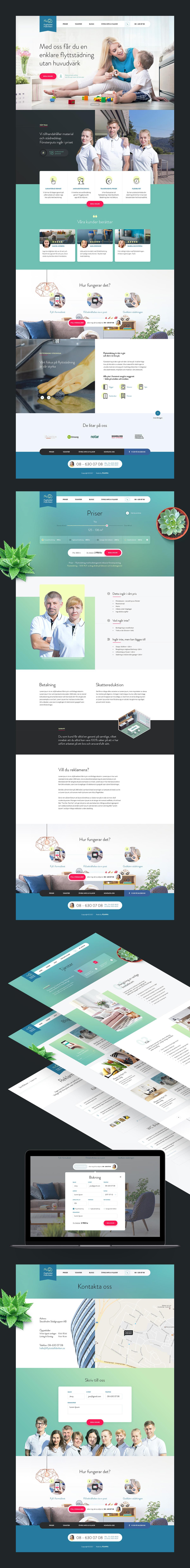 Корпоративный сайт компании Flyttstädfabriken