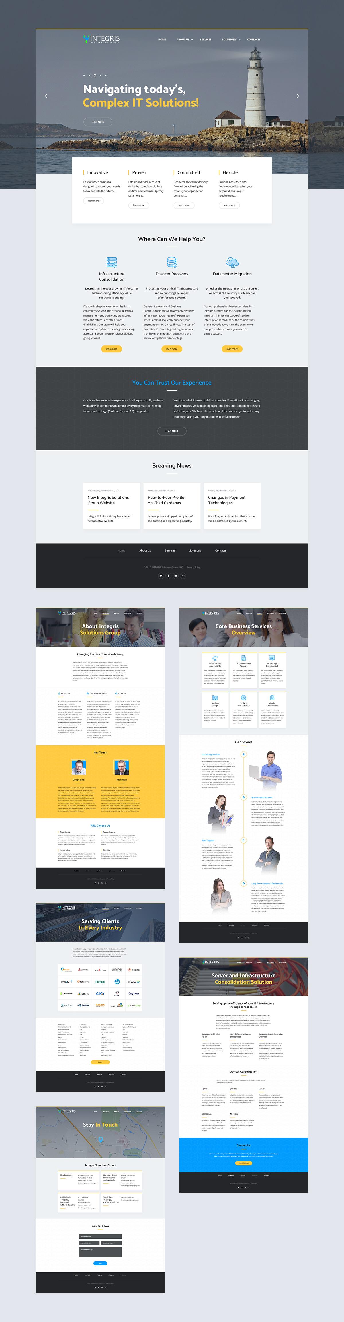 Разработка корпоративного сайта компании Integris