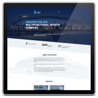 Разработка лендинга для спортивного комплекса Aquatic Palace