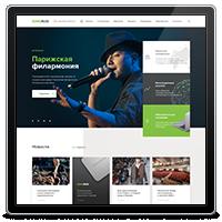 Сайт-каталог по продаже акустических систем Sonoruss
