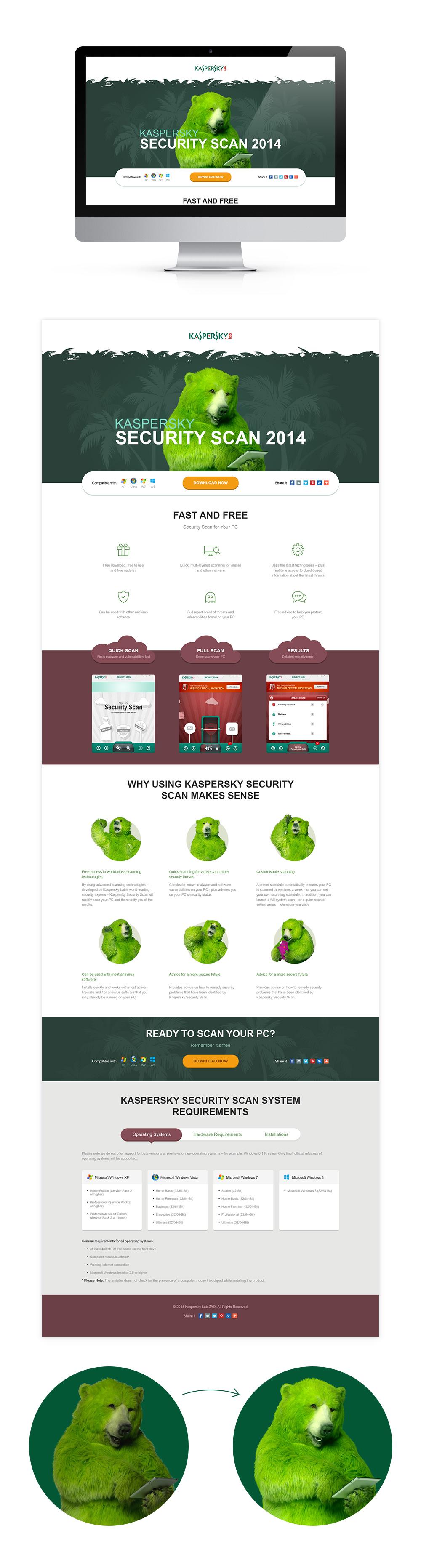 Landing page для Лаборатории Касперского