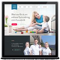 Дизайн корпоративного сайта компании Flyttstädfabriken