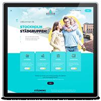 Корпоративный сайт компании Stockholm Stadgruppen