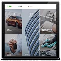 Дизайн сайта-каталога компании TIM