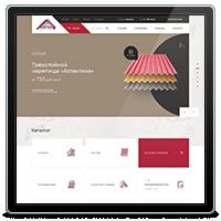 Сайт-каталог по продажам кровли и фасадов Effka