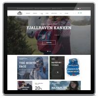 Интернет-магазин одежды для компании Frihet