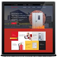 Сайт-каталог по продаже противопожарных дверей компании Огнеза