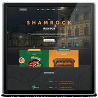 Дизайн сайт-визитки для ирландского паба Шемрок