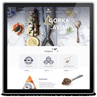 Дизайн интернет-магазина по продажи икры компании Gorka Caviar