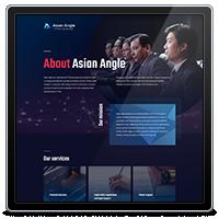 Корпоративный сайт компании Asian Angle