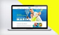 """Дизайн сайта для теннисного клуба """"Марина"""""""