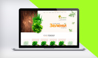 """Дизайн интернет-магазина по поставке зелени """"Колибри"""""""