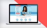 """Адаптивный дизайн Landing Page Студии """"Aurora"""""""