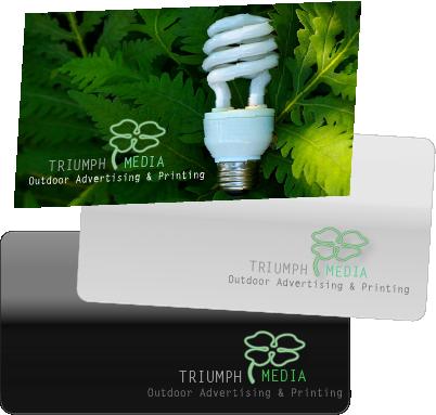 Разработка логотипа  TRIUMPH MEDIA с изображением клевера фото f_506f7b67cd73e.png