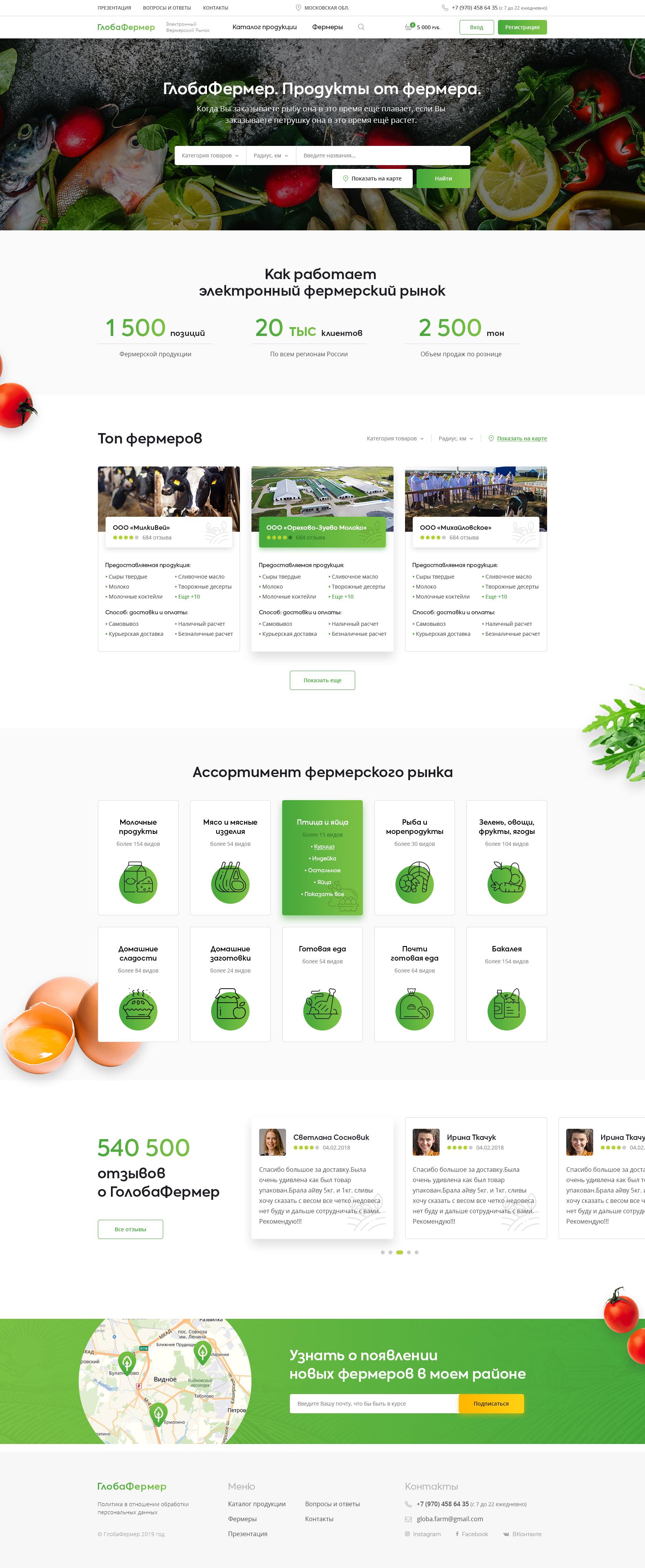 ГлобаФермер, электронный фермерский рынок