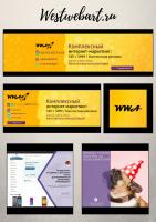 Дизайн шапок VK, FB и аватара Instagram // westwebart.ru