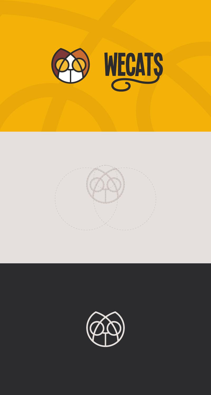 Создание логотипа WeCats фото f_2555f1e951dd44d6.jpg