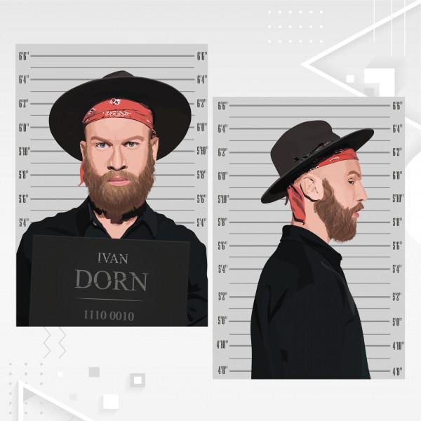 * Векторные иллюстрации в технике POP ART
