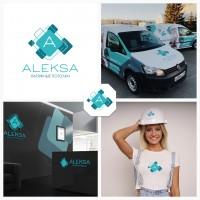 """Разработка логотипа для компании по монтажу подвесных потолков """"Aleksa"""""""