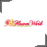 """Разработка логотипа и фирменного стиля для студии цветов """"Flower Works"""""""
