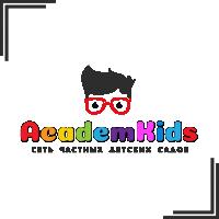 """Разработка логотипа для сети частных детских садов """"AcademKids"""""""