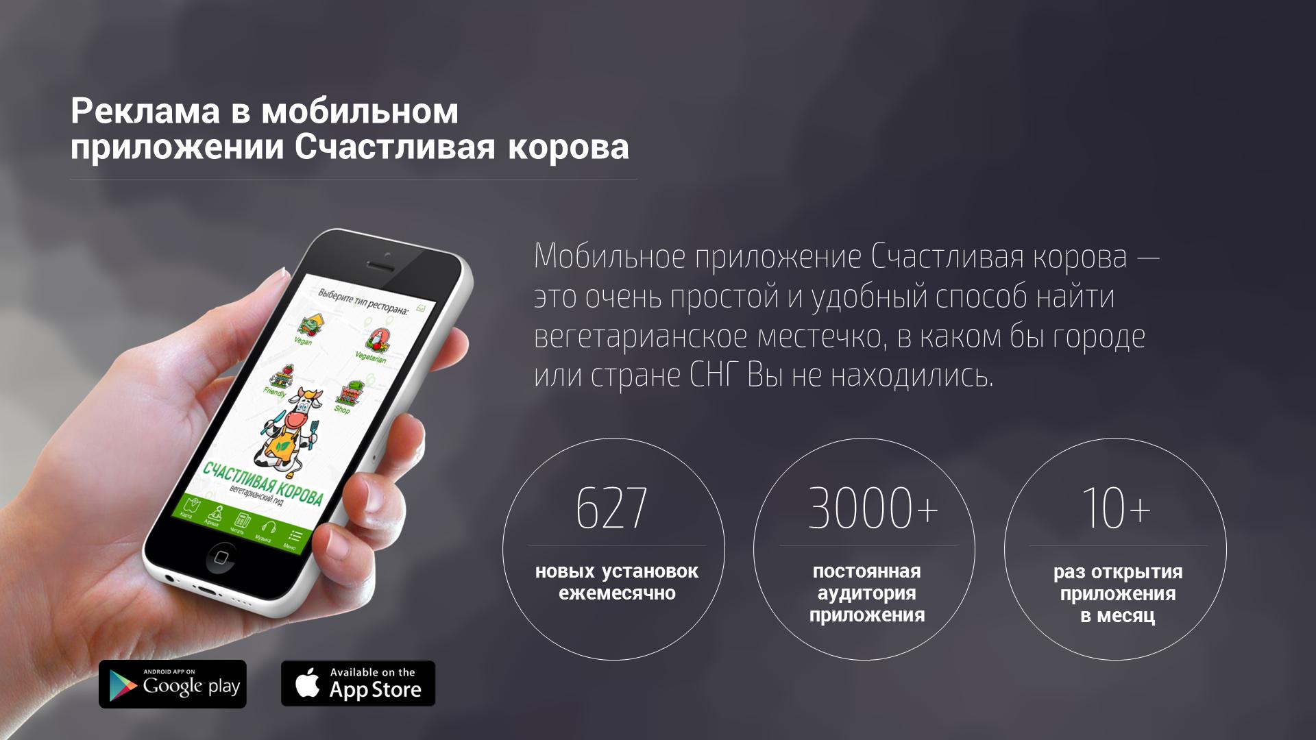 Презентация мобильного приложения Счастливая Корова (2017)
