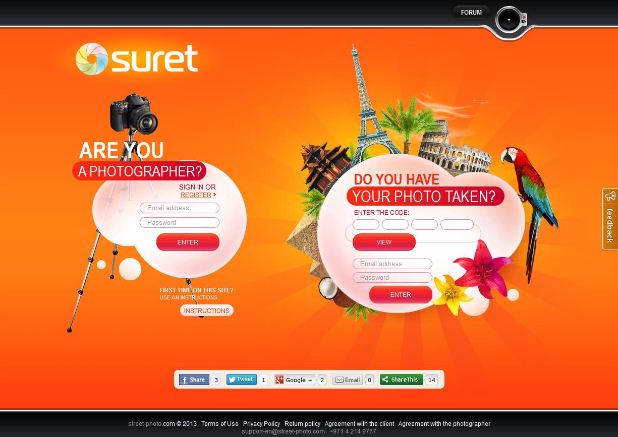 Suret - сервис для фотографов